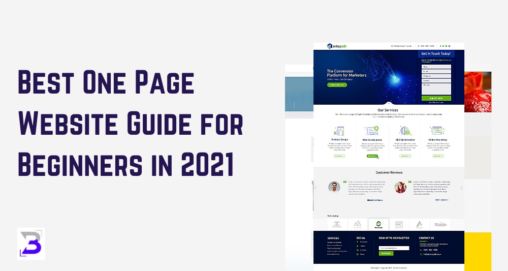 Best One Page Website Guide for Beginners in 2021
