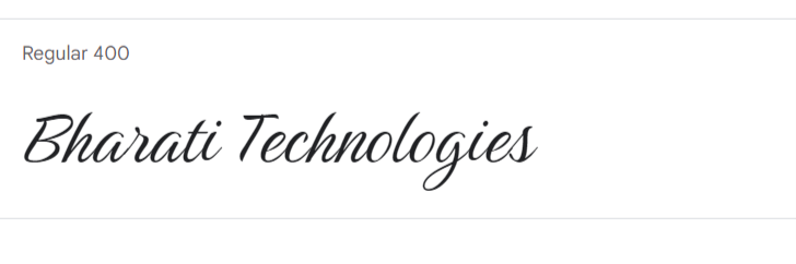 best google script fonts