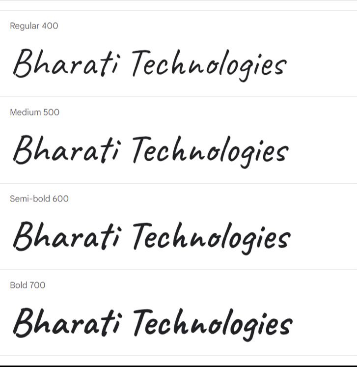 Caveat Google Fonts | Bharati Technologies