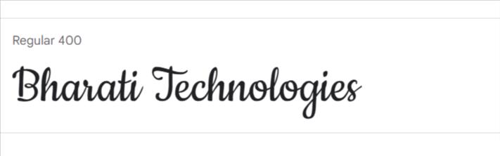 Cookie Google Fonts | Bharati Technologies