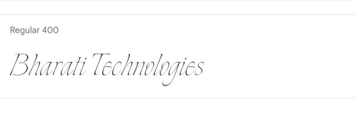 Explora Google Fonts | Bharati Technologies
