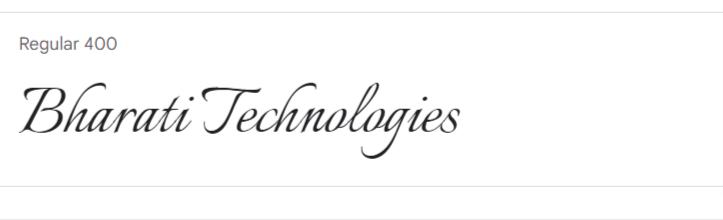 Italianno Google Fonts | Bharati Technologies